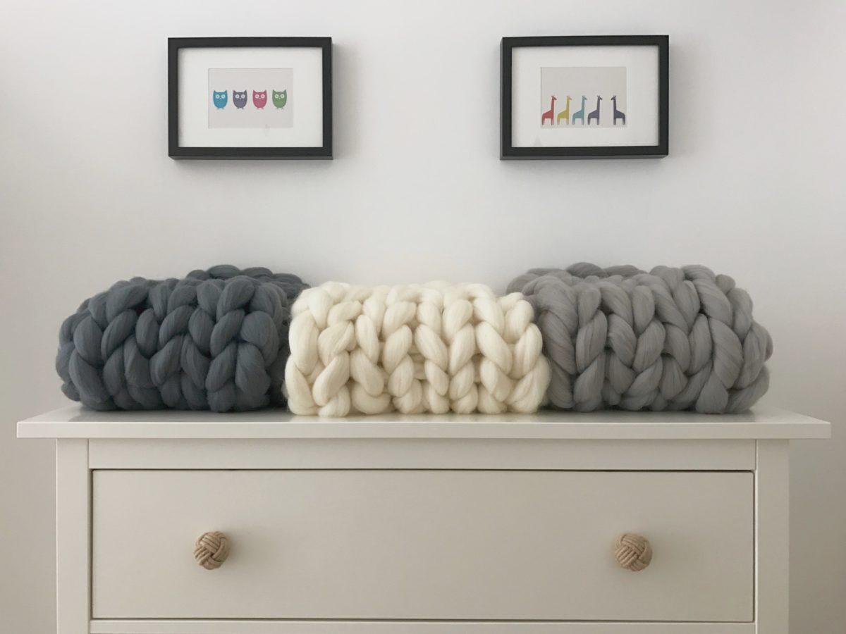 Blanket super chunky xxl wool merino