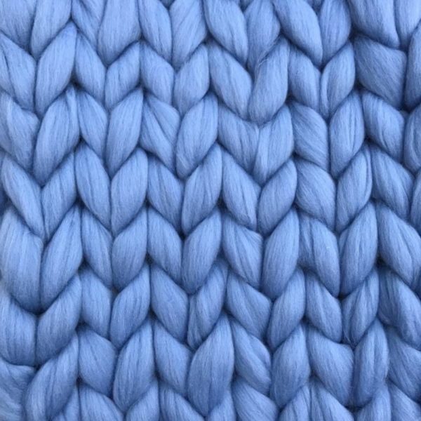 Ready Made Merino Blanket Blue Sky ComfyWool