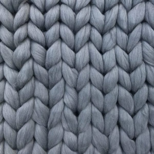 Blanket super chunky XXL Merino Grey mouse