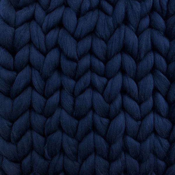 Ready Made Merino Blanket navy ComfyWool