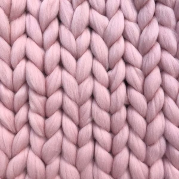 Ready Made Merino Blanket pink ComfyWool