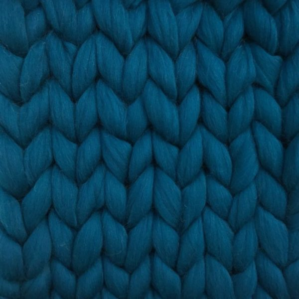 Ready Made Merino Blanket teal ComfyWool