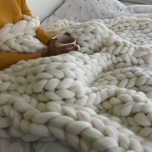Blanket white merino wool ComfyWool 2
