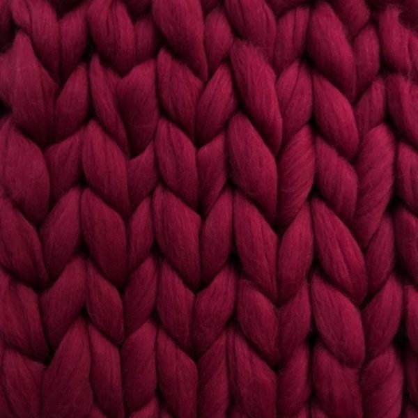 Ready Made Merino Blanket bordeaux ComfyWool